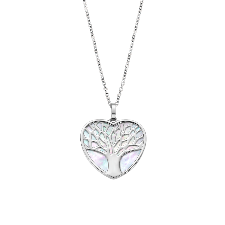 """TREE OF VALUES"" HEART NECKLACE LS2022/1/1 White LOTUS Style"