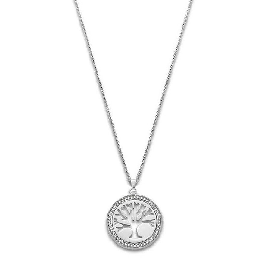 """TREE OF VALUES"" NECKLACE LS1869/1/1 White LOTUS Style"
