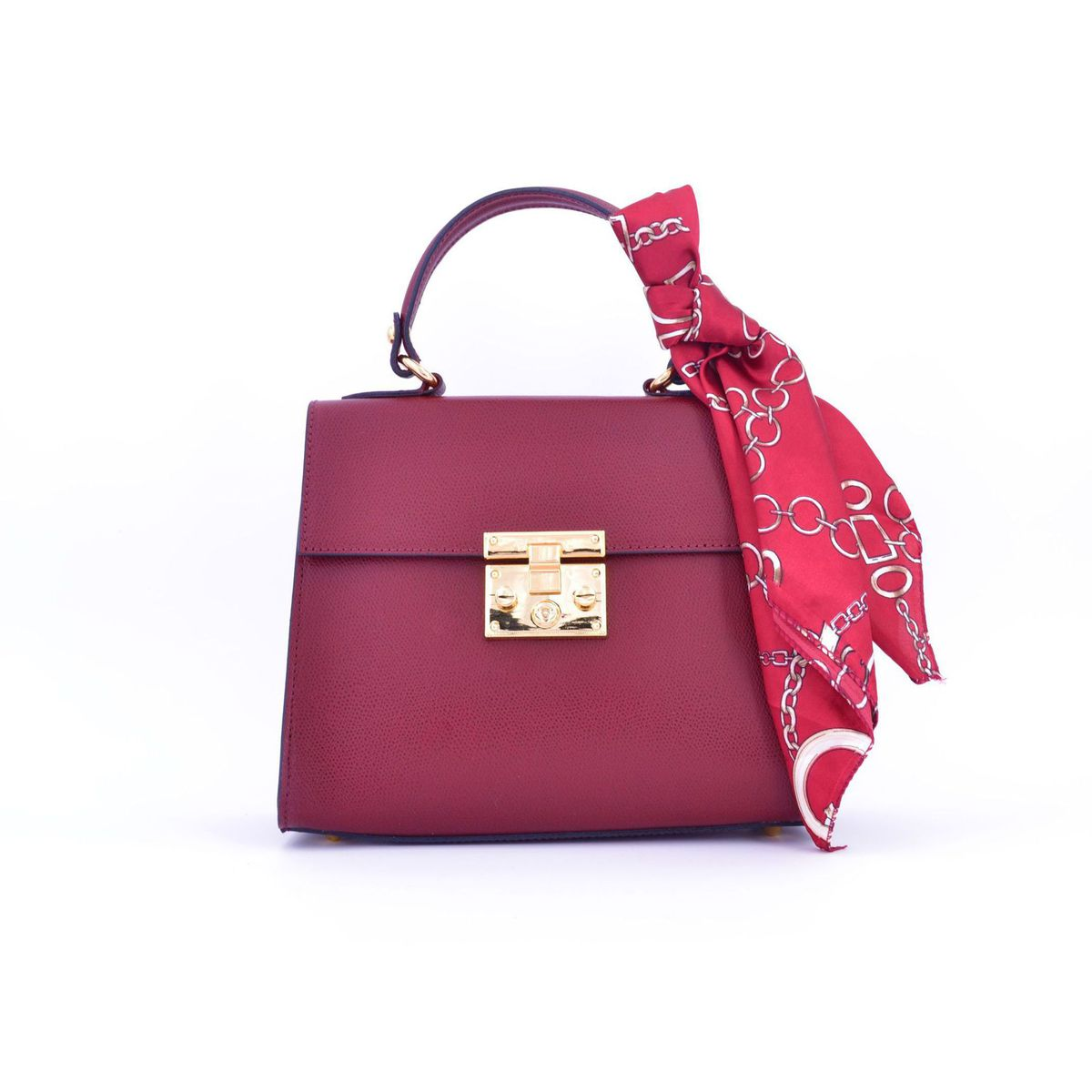 BORDEAUX TRAP BAG WITH FOULARD Bordeaux BRASS Workshop