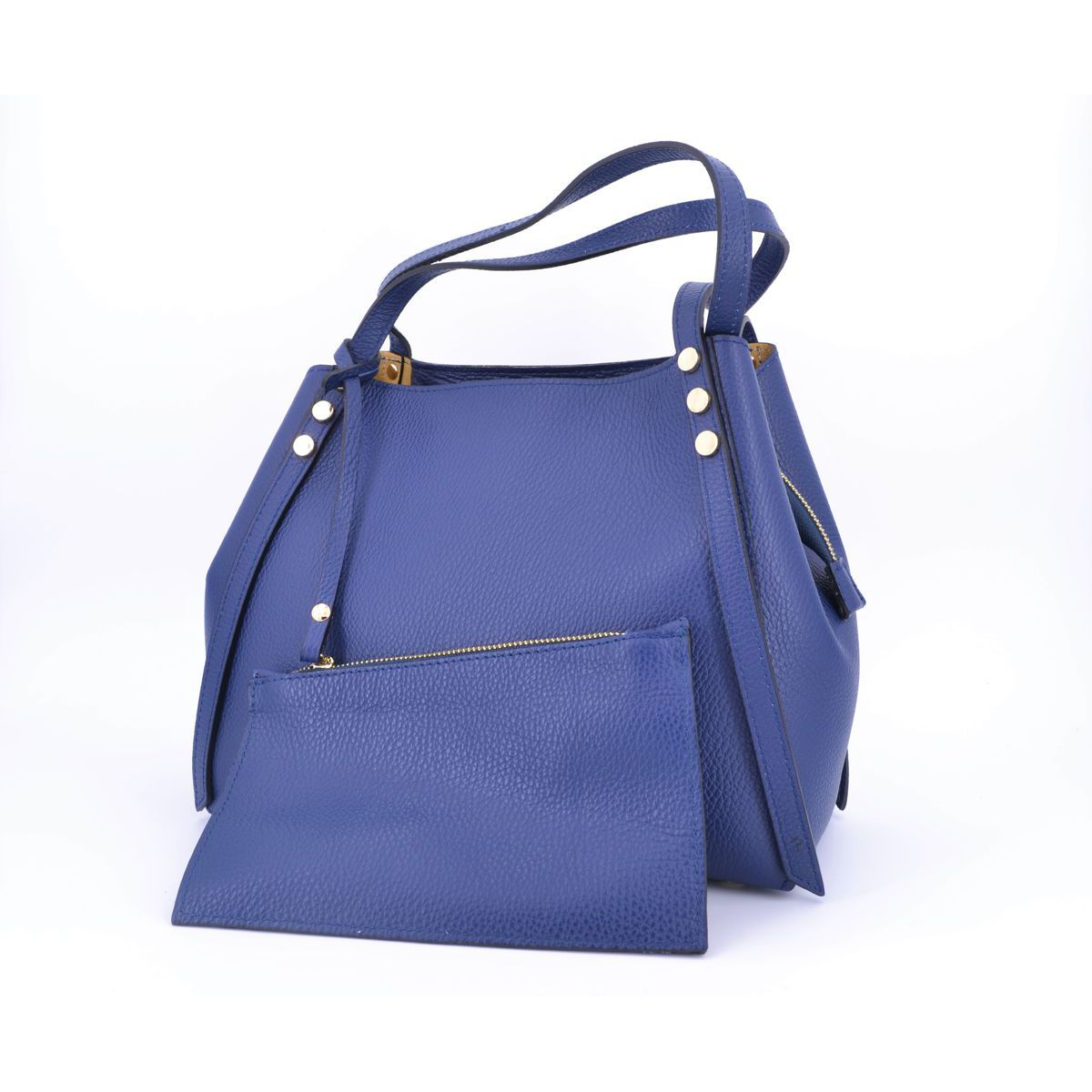 TWO LEATHER BAG Blue BRASS Workshop